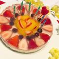 苺と八朔ゼリーのレアチーズケーキ