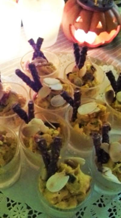 カボチャとクリームチーズのカクテル