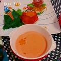 赤パプリカのポタージュスープ