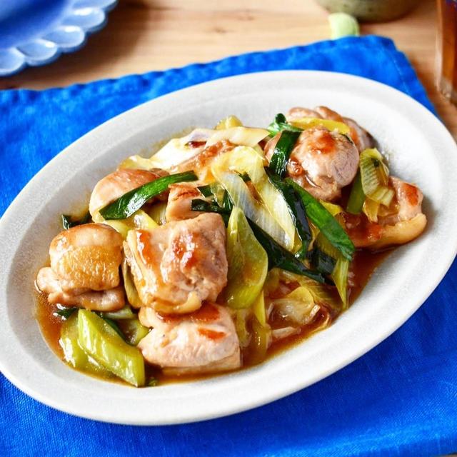 スタミナ甘酢だれでがっつり!【鶏肉と長ネギのスタミナ炒め】#作り置き