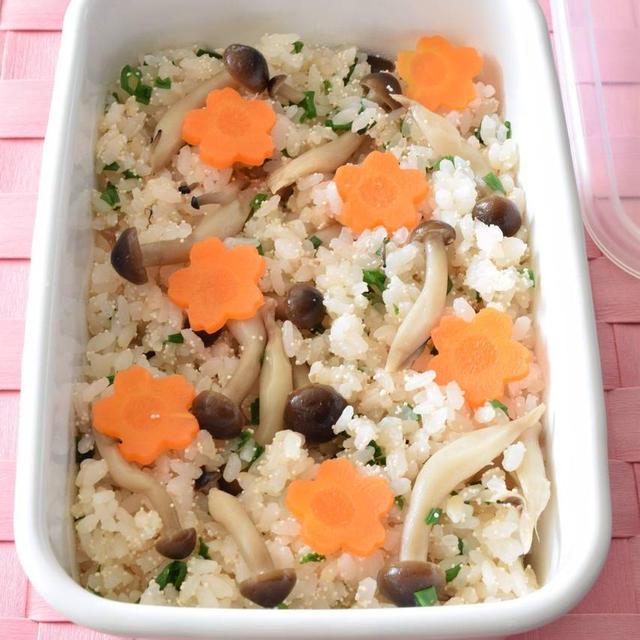 しめじと明太子の炊き込みごはん 作り置きレシピ お弁当用 or ドリア用