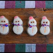 簡単!雪だるまのクリスマスおやつ♪と手みやげラッピング