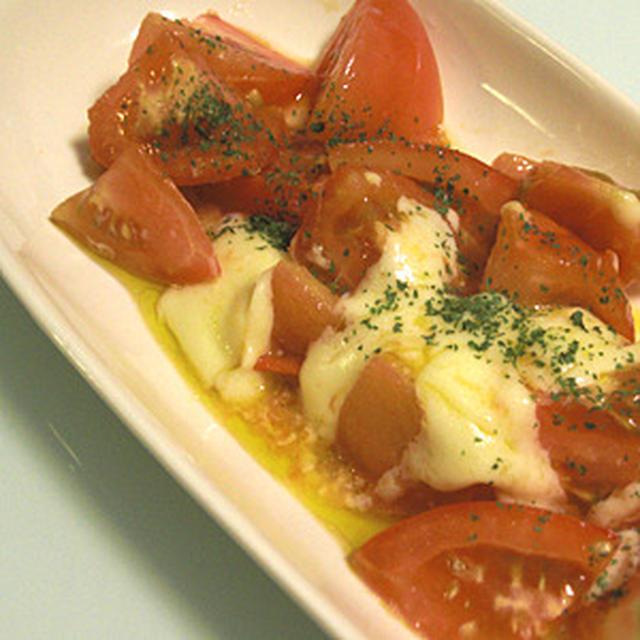トマトの塩チーズ炒め