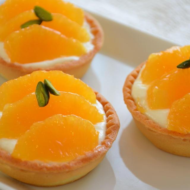 オレンジとチーズのタルトレット~レシピ付き♪~