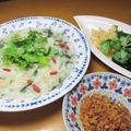 とっても美味しいセリ入り中華粥と台湾土産色々~v(^0^)/