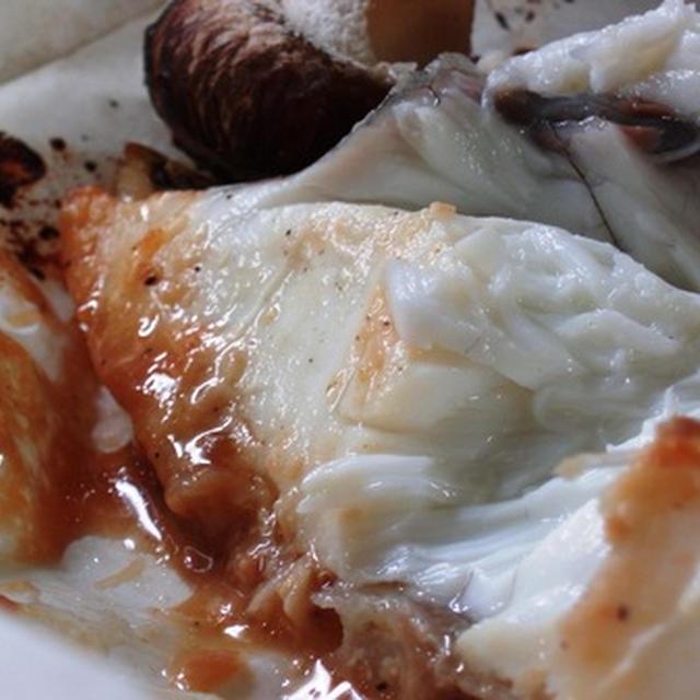 鯛と茸の包み焼き(味噌マヨネーズ風味):新式の包み方:沖縄基地移転に見る小沢独裁政治の行方