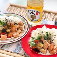 夏にさっぱりと食べるなら* 【サラダチキンと夏野菜の甘酢照り焼きそうめん】カンタン酢が便利だよ!