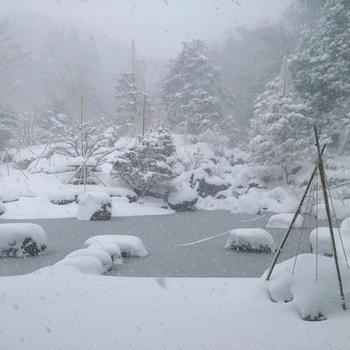 雪と週末ごはん