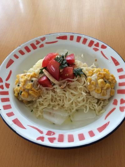 サッポロ一番で冷やし麺