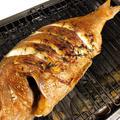 ヘルシオオーブンで簡単魚料理。 鯛の香菜姿焼きを作りました!