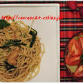 水菜と白舞茸とベーコンの時短ペペロンチーノ♪ by kewpieさん
