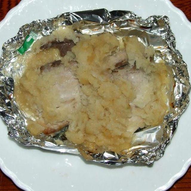 鰤のおろしわさびホイル焼&かぼちゃのそぼろ煮