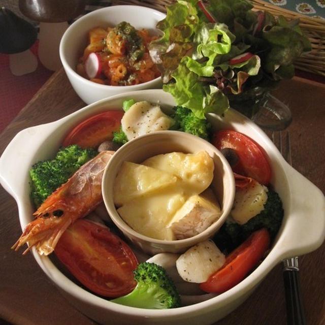 海老帆立と野菜のオーブン焼きついでにカマンベールフォンデュ