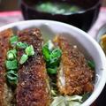 「ソースカツ丼」お総菜カツで簡単ランチ☆