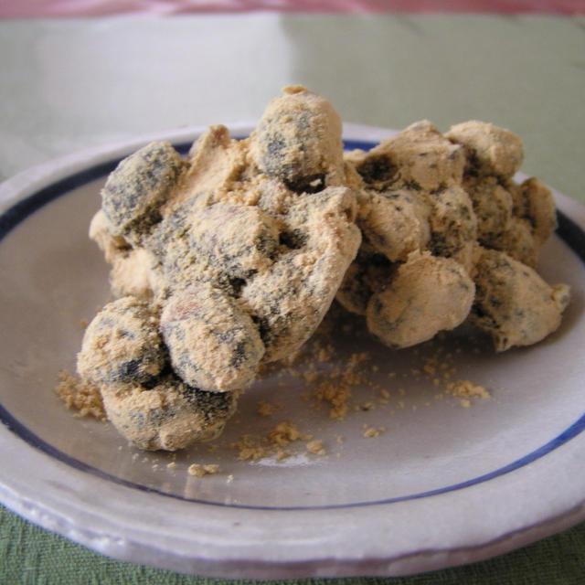 炒り大豆とクルミの味噌タッフィー