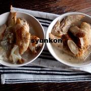 【簡単!カフェごはん】手羽先とゴボウのスープでワンプレート