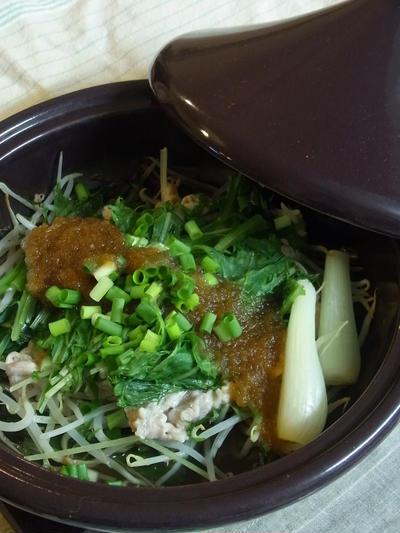 蒸し豚しゃぶとたっぷり野菜の玉ねぎソース