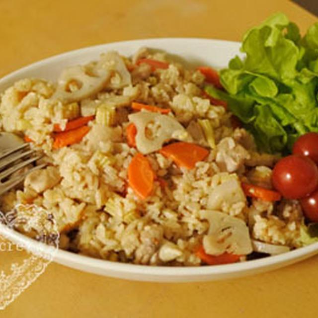 * 小岩井乳業「鶏肉&シャキシャキ野菜のマーガリンガーリック醤油ライス」 *