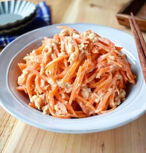 レンジで簡単【にんじんとツナの味噌マヨ和え】#5分で完成 #ワンボウル