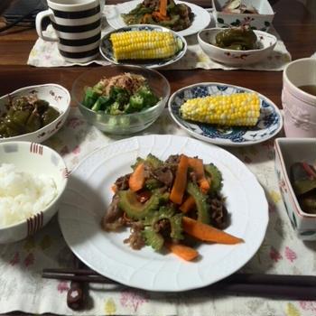 ゴーヤと牛肉の味噌炒めの日