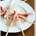 サンダニエーレ産生ハムとグリッシーニの前菜