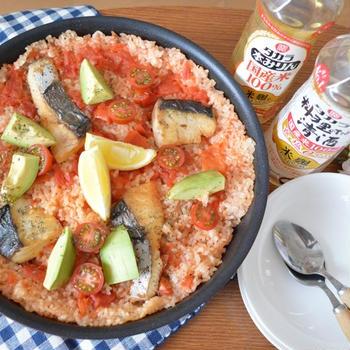 鰆とトマトの炊き込みご飯