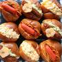 日曜日の朝ごパン3種 ロールパンサンド