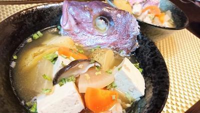 【レシピ】ダシが絶品★豪快★贅沢★具だくさん【鯛のアラ汁醤油仕立て】