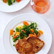 豚肉のマスタード仕立て、春野菜添えCOTES DE PORC A LA MOUTARDE,LEGUMES PRIMEUR