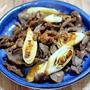 自家製焼き鳥のたれで「砂肝と白葱の焼き鳥炒め」&「もやしがよくあう焼きそば」
