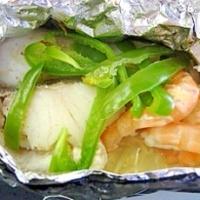 海鮮とキノコの包み焼き