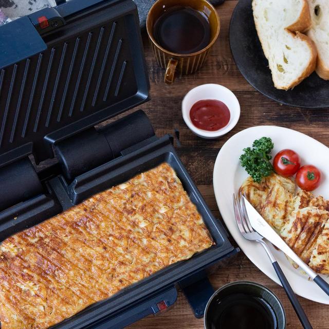 【お仕事関連】2ウェイグリルでお手軽!チーズ風味のハッシュドポテト