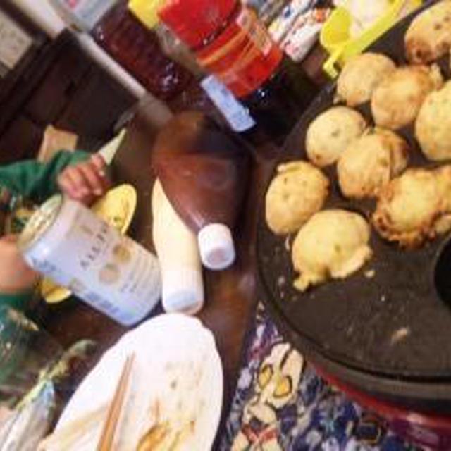 takoyaki =Party=~アンチョビ・ツナ・トマト味のパスタ(キッチン ラボ)~3つお手伝い