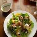 洋梨と生ハム、カマンベールのサラダ
