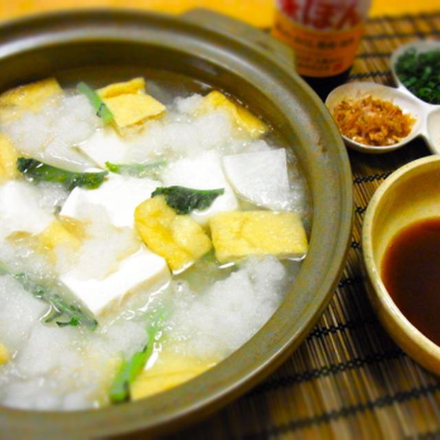 雪やこんこ♪ みぞれ湯豆腐♪