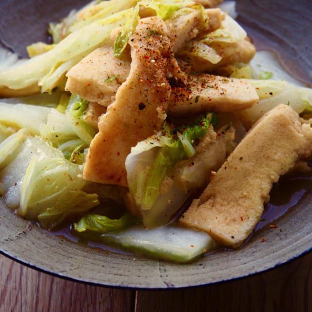 ふわとろ高野と白菜のポン酢炒め