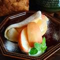 フライパンで☆桃とミルククリームオムレット