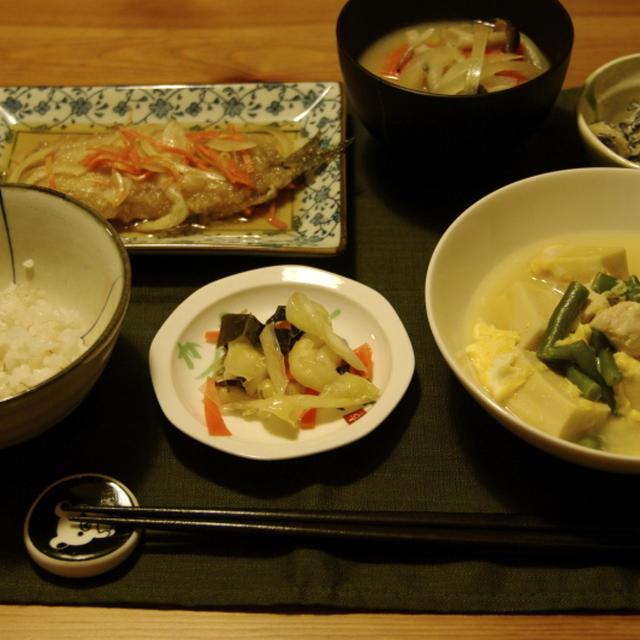 我が家の高野豆腐の煮物