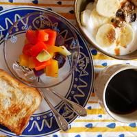 キャラウェイ風味元気色マリネサラダのハッピー朝ごはん♪
