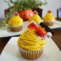 かぼちゃのモンブランカップケーキ♪ by bvividさん