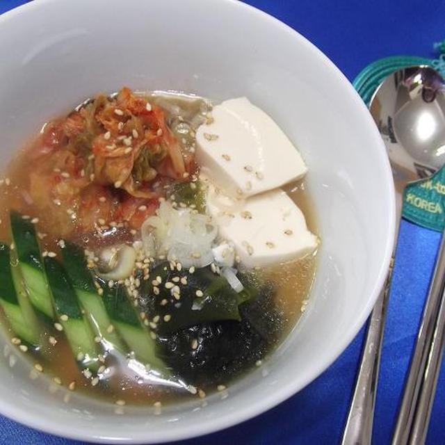 冷製☆スンドゥブ・チゲ風スープ