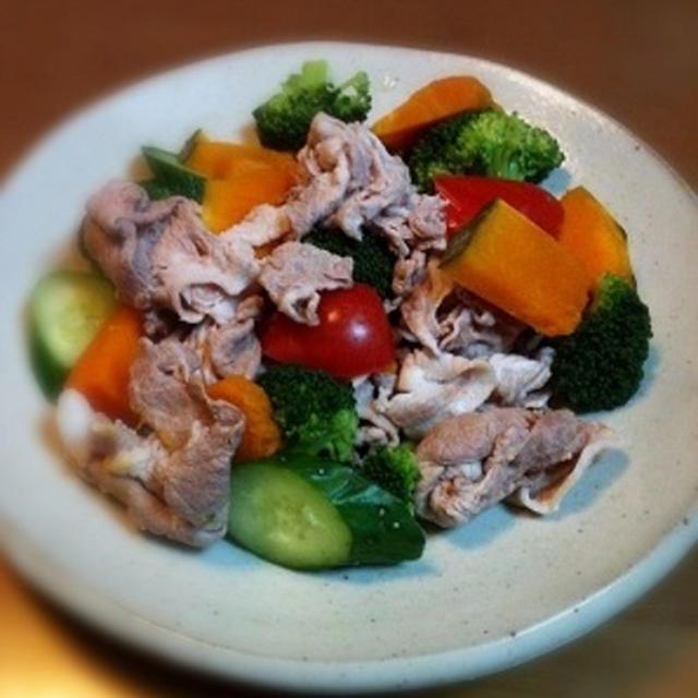 夏野菜のさっぱり冷しゃぶ