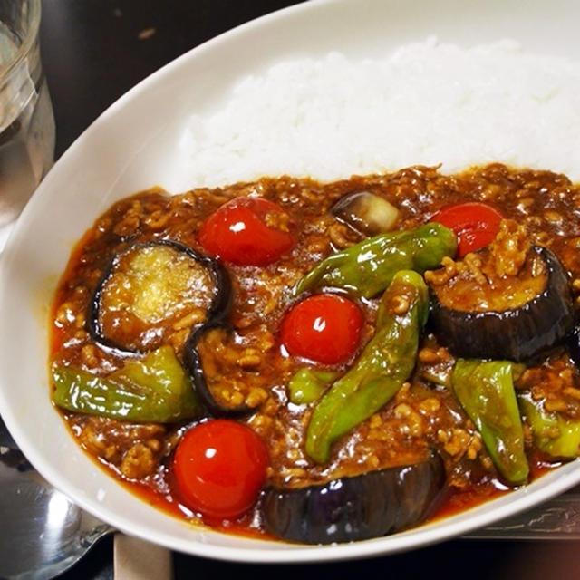 カレーはカレー粉で作るべき。夏野菜のマーボー・カレー