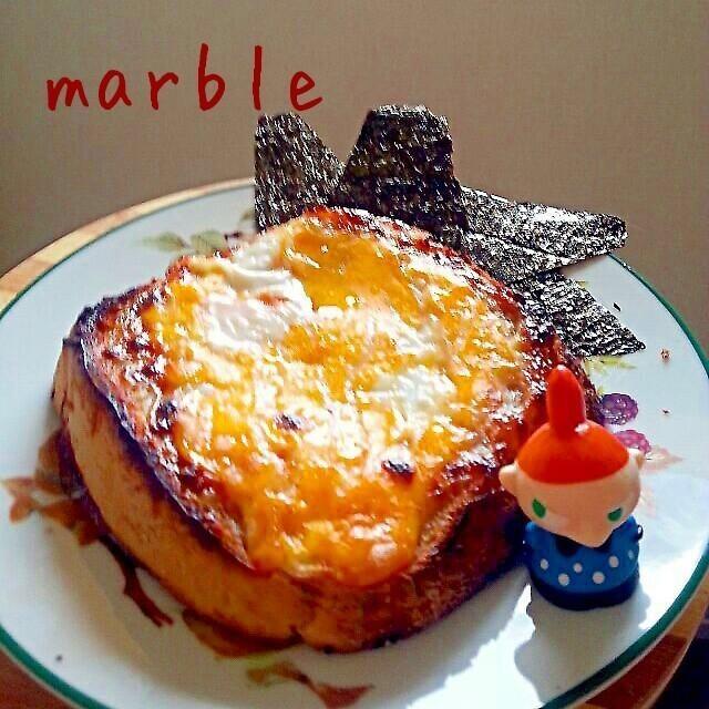 超簡単!!俺のマヨ海苔たまトースト