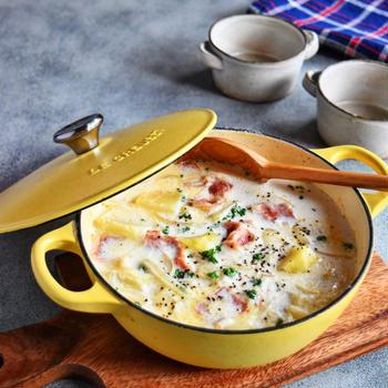 【スープ】じゃがいもとベーコンのミルクスープ