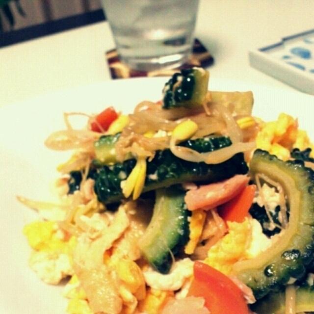 ゴーヤチャンプルー ピリ辛 野菜だけで 毎食ゴーヤのご紹介