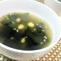 【レシピ】スープなのにコク旨!ワカメとコーンのバターコンソメスープ(^^♪