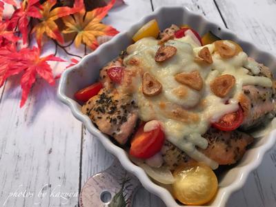 鮭とかぼちゃのチーズ焼き|憧れのキッチン