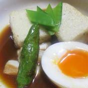 カレー味の揚げ出し豆腐