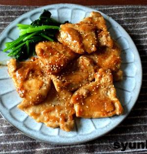 【簡単!!10分でボリュームおかず】豚肉の味噌にんにくしょうが焼き